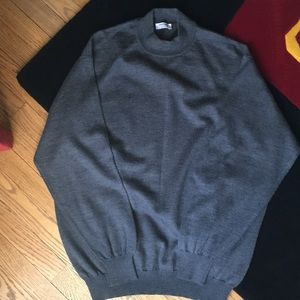 Gran Sasso grey wool and cashmere  crew neck.